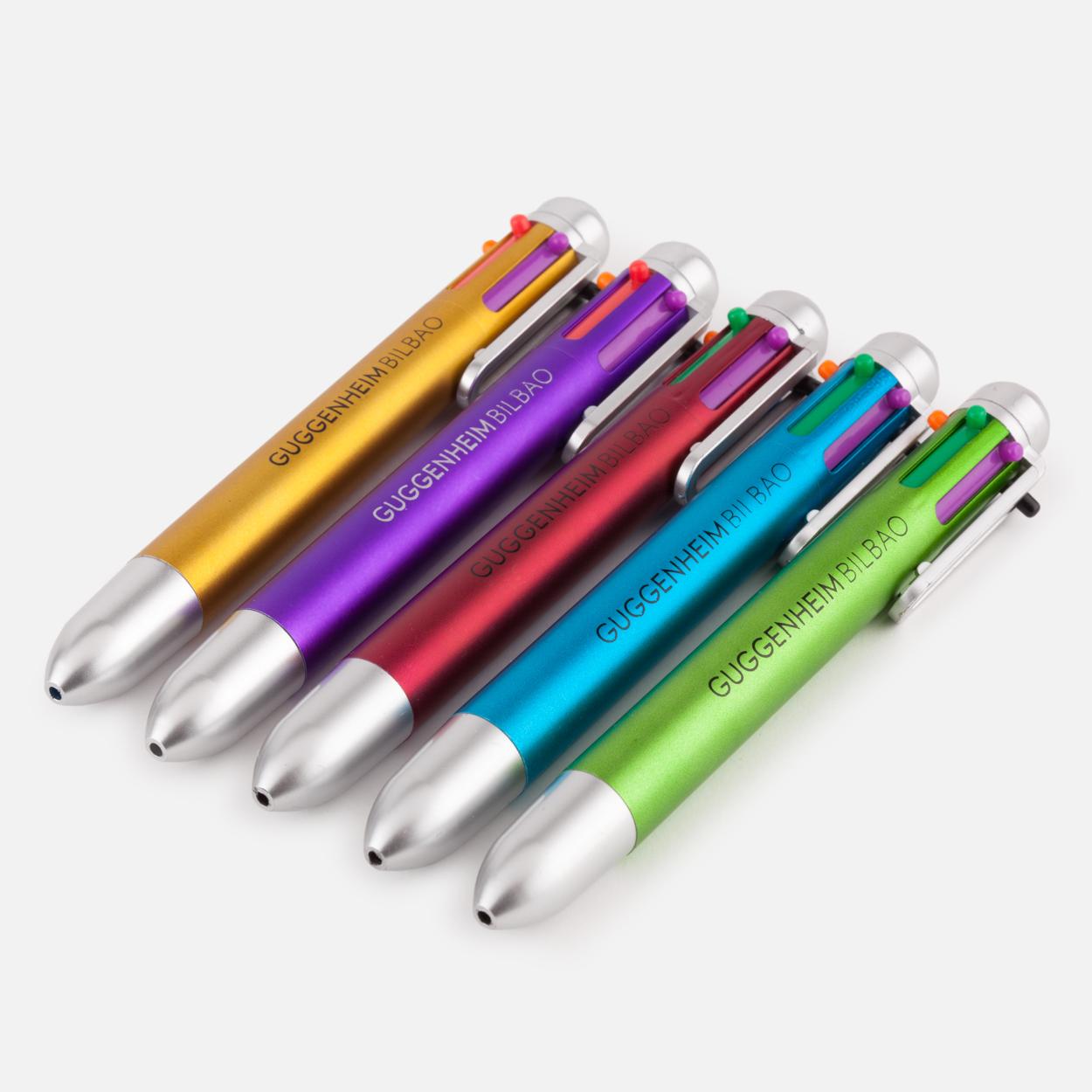 Boligrafo 6 Colores