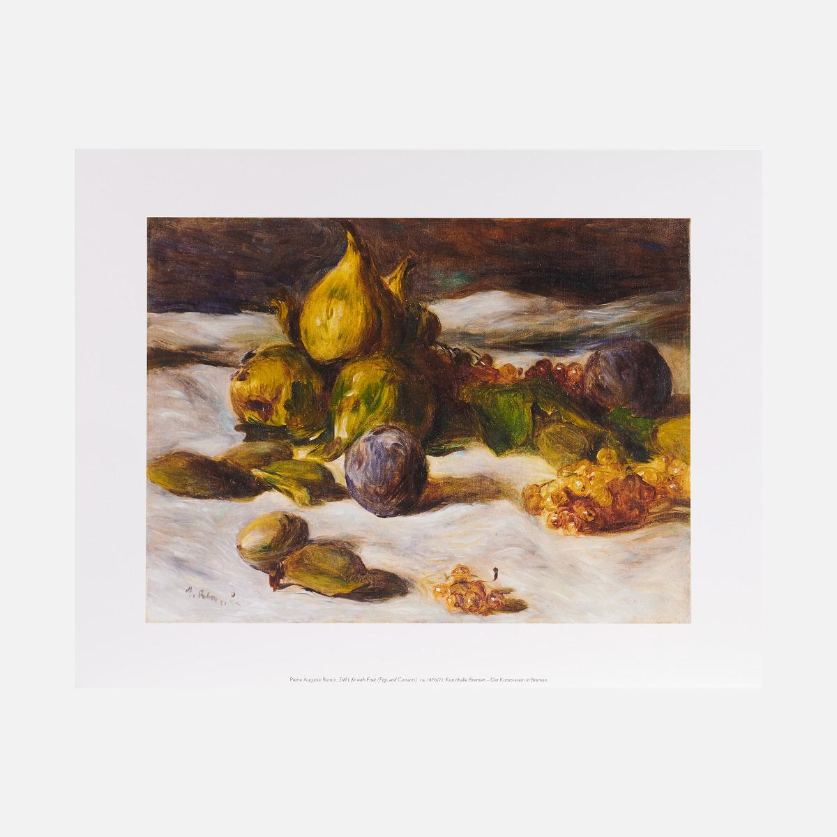 Lámina Naturaleza muerta con frutas (higos y grosellas), ca. 1870–72