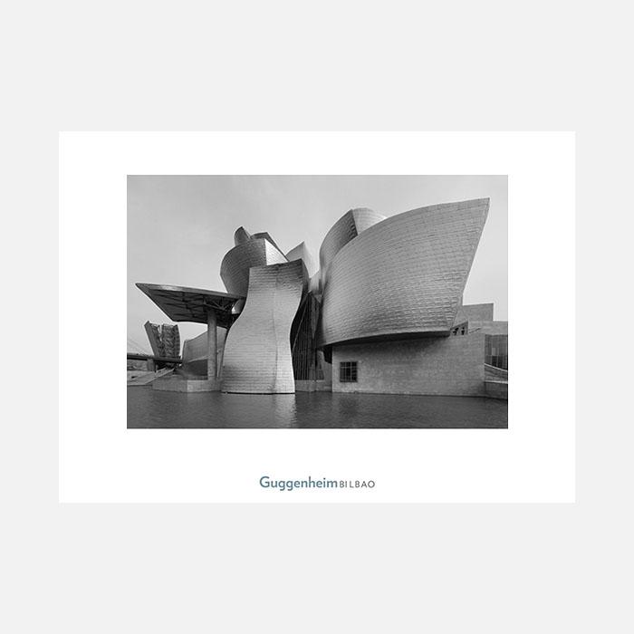 Guggenheim Bilbao en blanco y negro