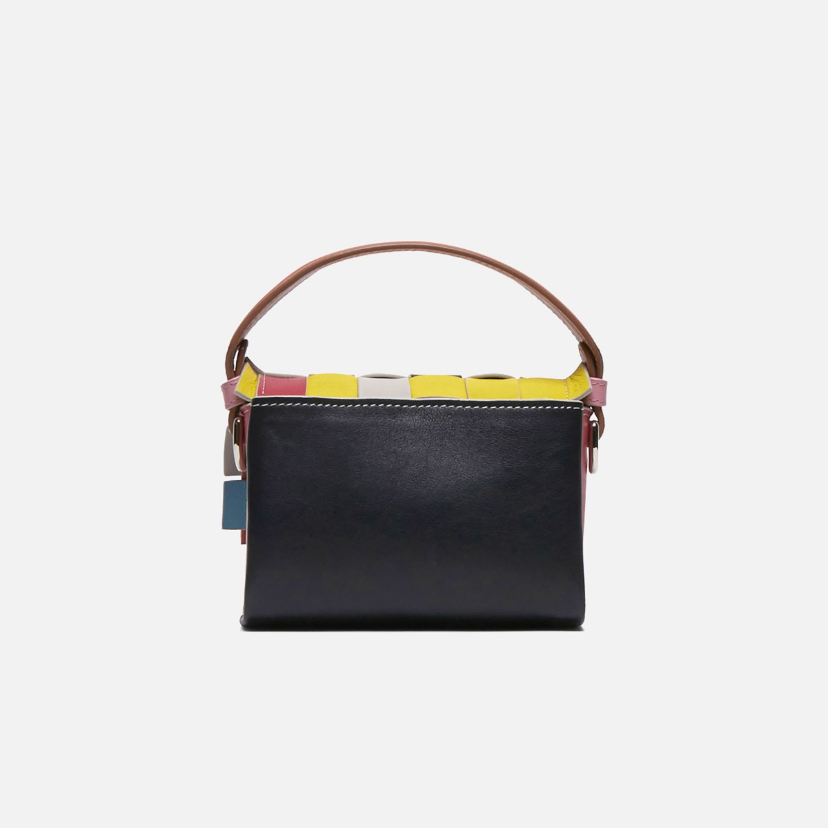 Flap Woven Handbag, large