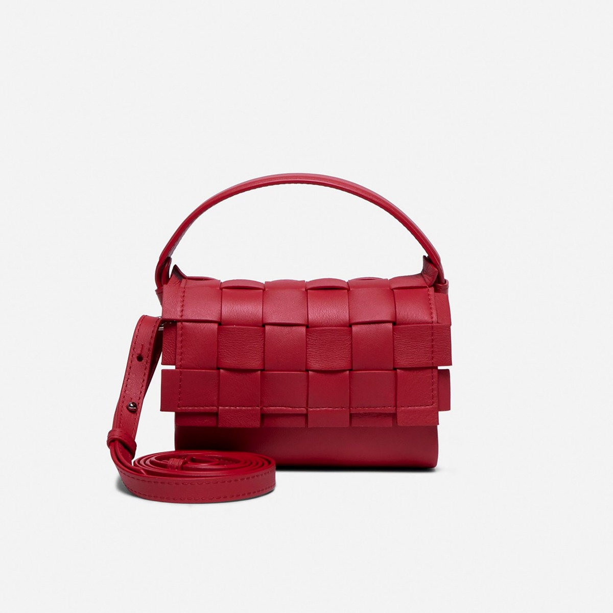 Flap Woven Handbag, small