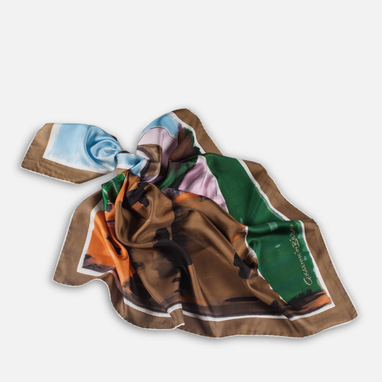 Pañuelo Museo marrón