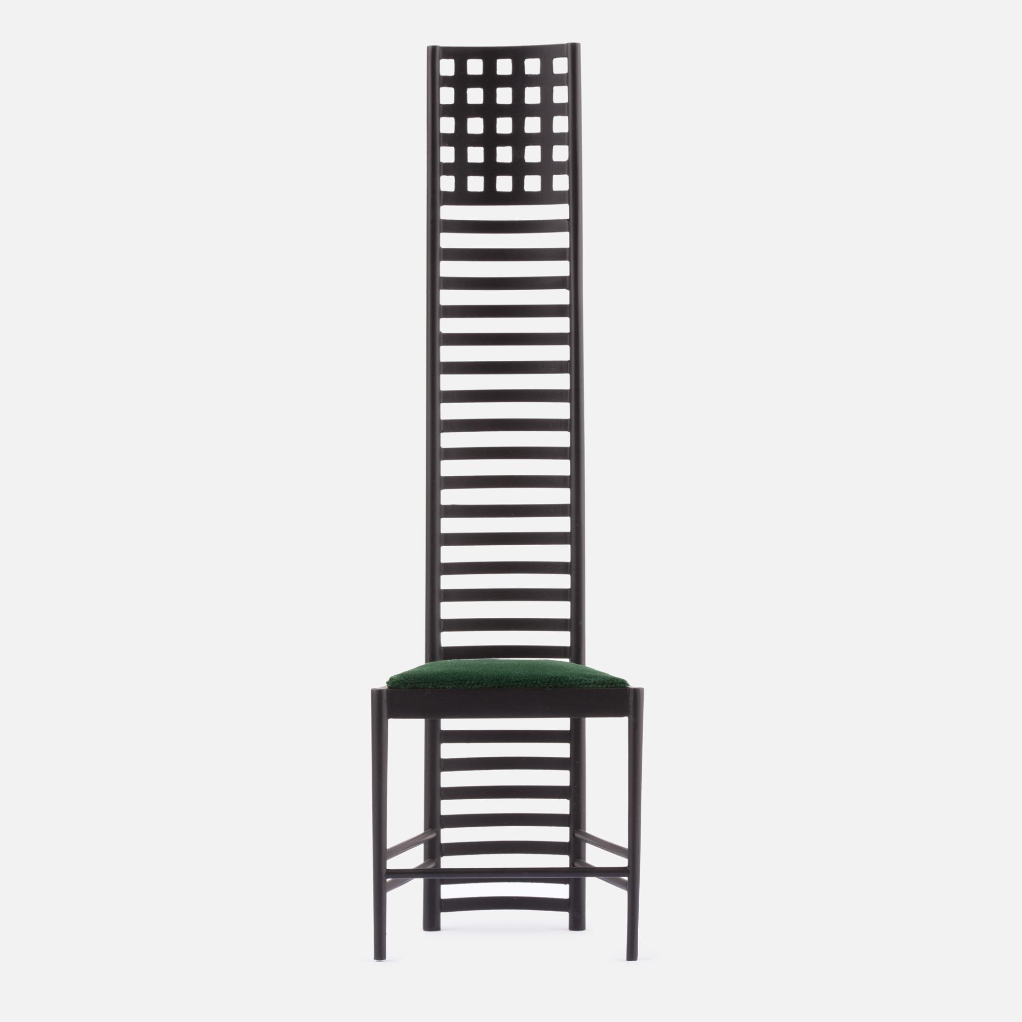 Miniature Hill House 1 chair, Mackintosh 1903
