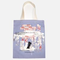 PERSONAGES AND PUPPY TOTE BAG
