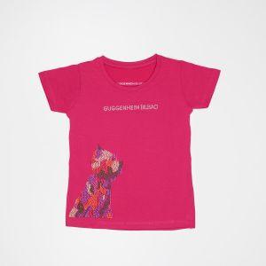 Camiseta Puppy tachuelas rosa