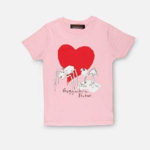 Camiseta infantil Araña rosa