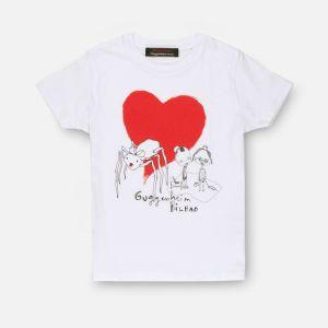 Camiseta infantil Araña blanca