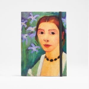 Self-Portrait in front of a Green Background with Blue Iris, 1900–07, notebook