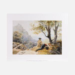 Lámina Artistas descansando en las montañas , 1819