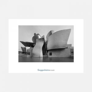 Guggenheim Bilbao in black and white