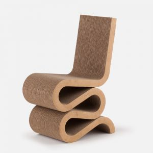 Frank Gehry's Wiggle Side chair, 1972