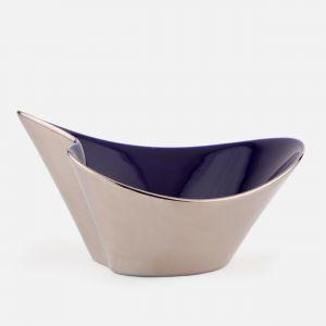 Bol de porcelana azul